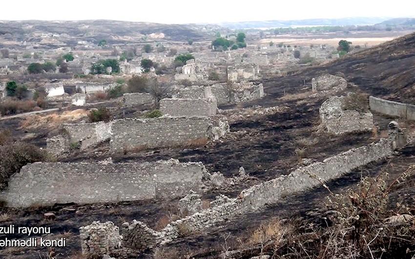 Footage from liberated Pirahmadli village of Azerbaijan's Fuzuli district