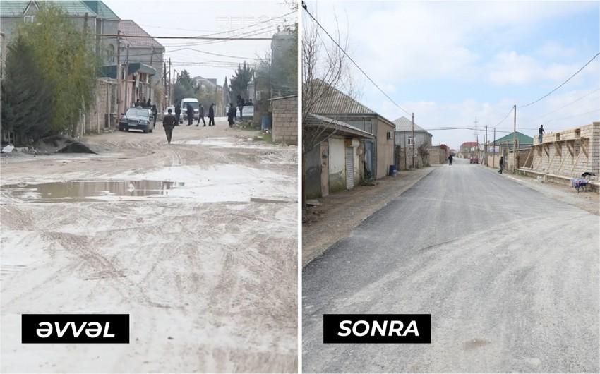 """""""Report""""un süjetindən sonra Suraxanı rayonunda yola asfalt çəkilib - VİDEO"""