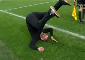Fransa klubunun baş məşqçisi qələbədən sonra salto vurdu