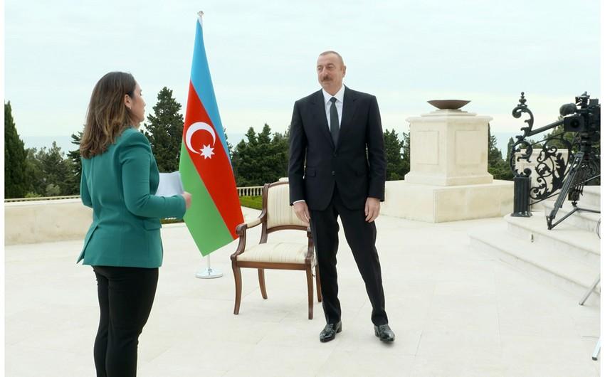 """Prezident İlham Əliyev """"Əl-Cəzirə"""" televiziya kanalına müsahibə verib"""