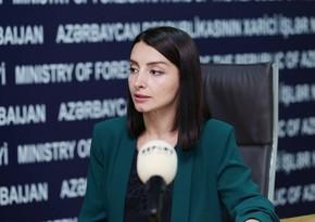 Leyla Abdullayeva: Ermənistanı regionda yaranmış reallıqları qəbul etməyə çağırırıq