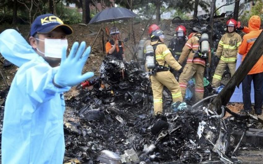 Cənubi Koreyada helikopter qəzası: 1 nəfər ölüb, 3 nəfər itkin düşüb