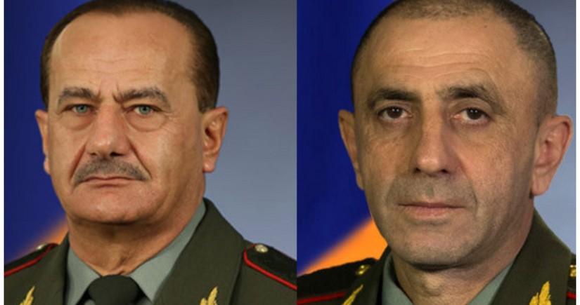 Ermənistan ordusunun iki generalı vəzifəsindən azad edilib