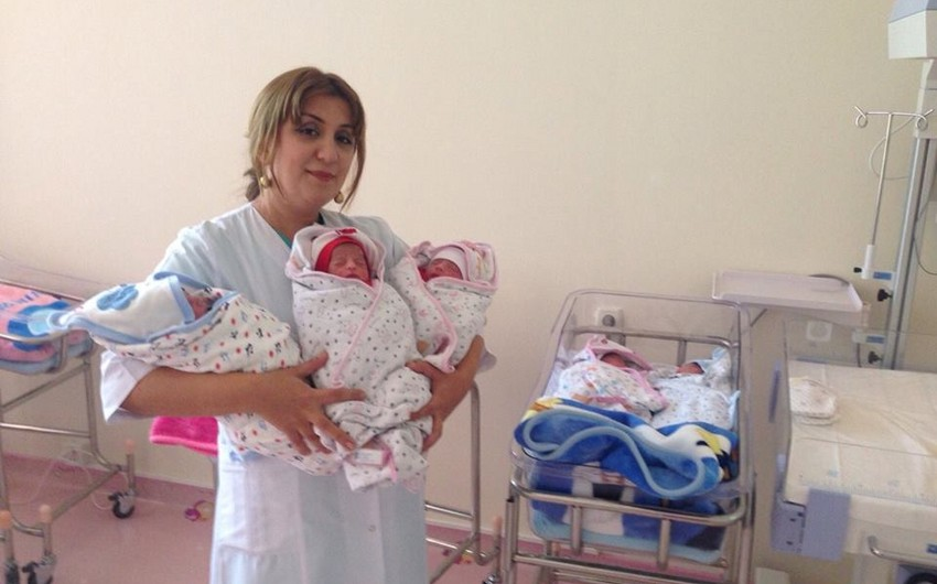 ATU-nun Tədris Cərrahiyyə Klinikasında üçəm dünyaya gəlib - FOTO