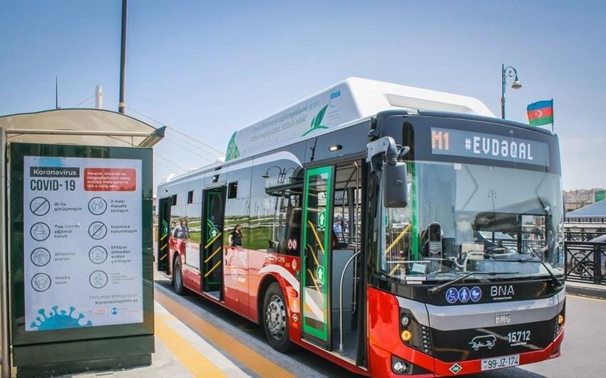 Bakıda ekspres xətt avtobuslarının fəaliyyəti dayandırılır