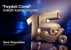 """""""Bank Respublika"""" """"Faydalı Cümə"""" kampaniyasına start verir"""