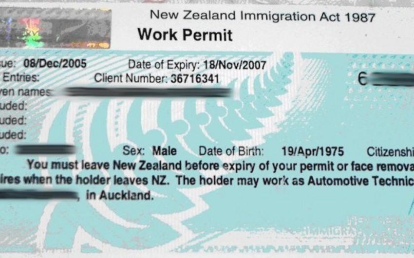 Yeni Zelandiya əcnəbi işçilər üçün viza rejimini sərtləşdirir