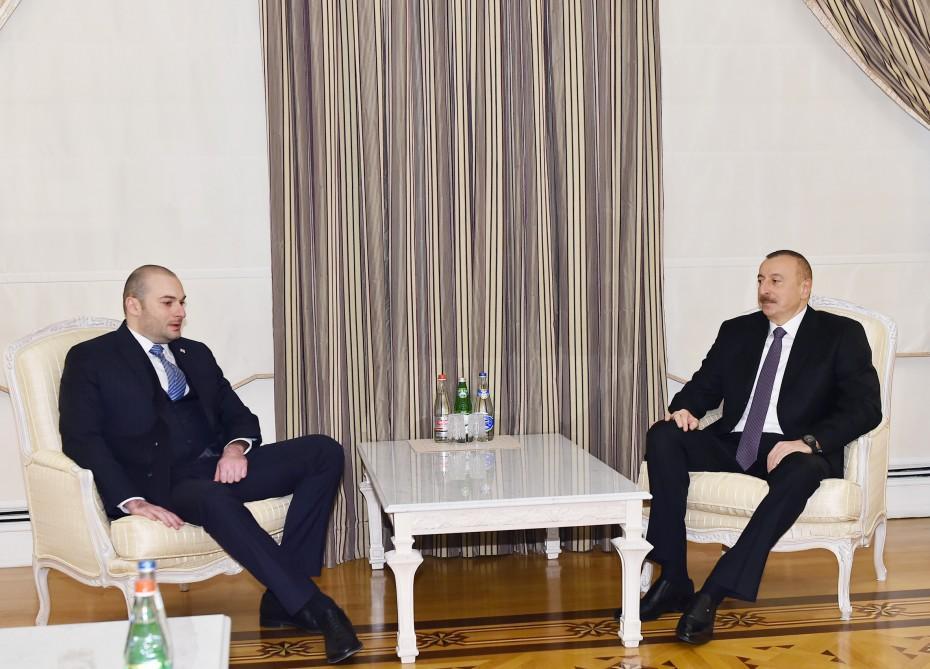 Президент Ильхам Алиев принял министра финансов Грузии