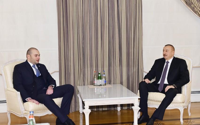 Prezident İlham Əliyev Gürcüstanın maliyyə nazirini qəbul edib - YENİLƏNİB