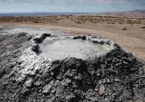 Şamaxıda Quşçu palçıq vulkanı püskürüb - EKSKLÜZİV