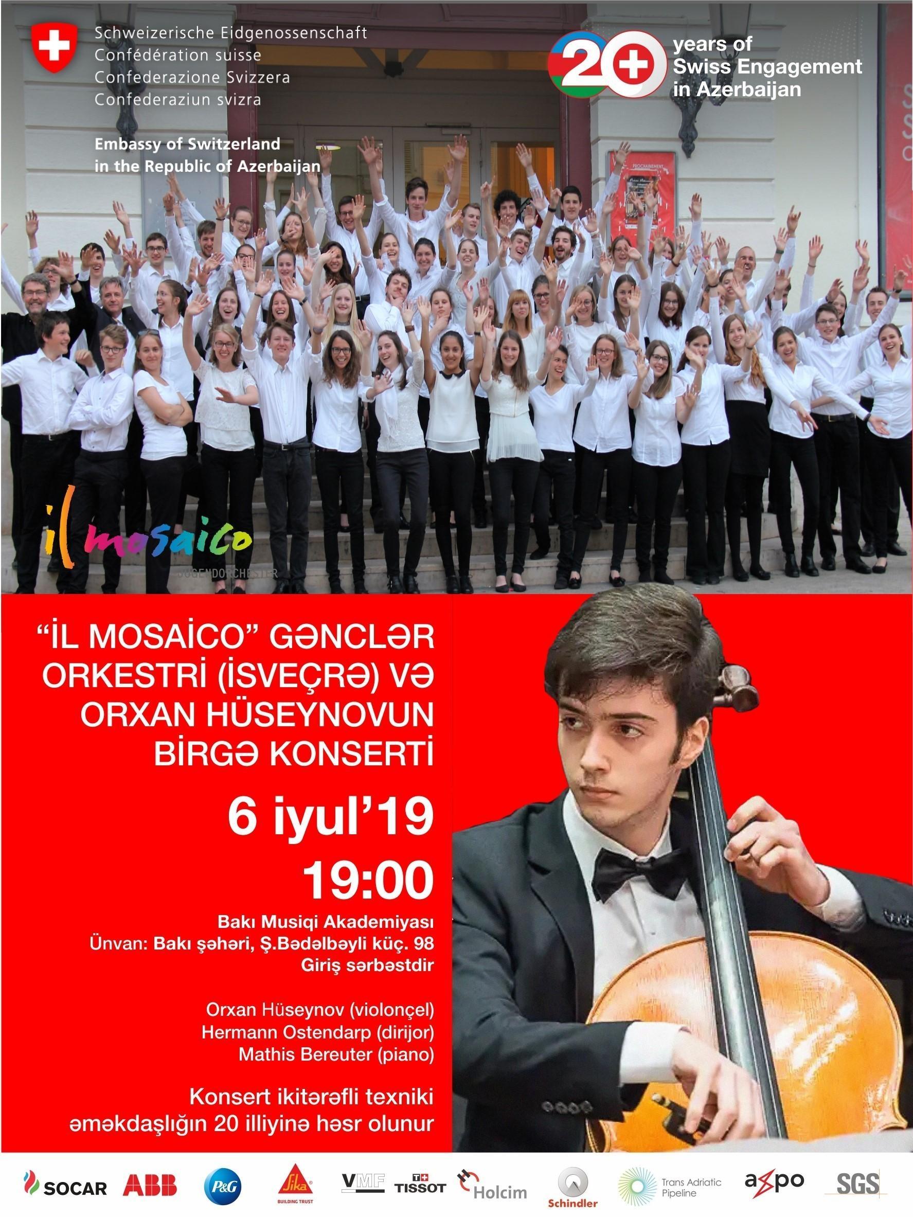 Baku and Gabala to host concerts dedicated to Azerbaijani-Swiss cooperation