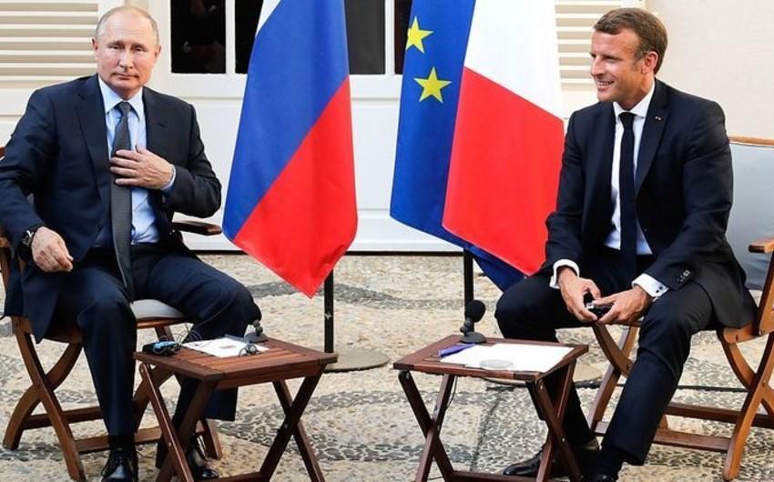 Rusiya və Fransa prezidentləri Dağlıq Qarabağ münaqişəsini müzakirə edib