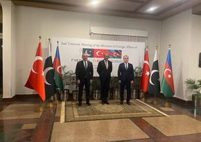 Azərbaycan, Pakistan və Türkiyə XİN başçıları bəyannamə imzalayıb