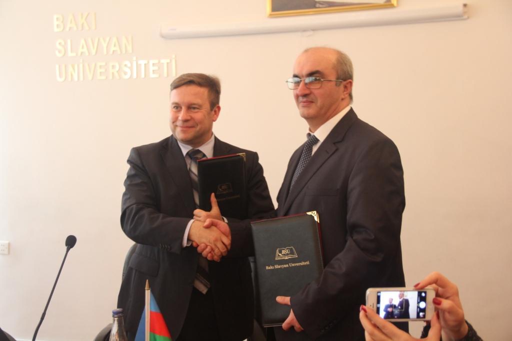 Bakı Slavyan Universiteti Auqsburq Universiteti ilə əməkdaşlığa imza atıb