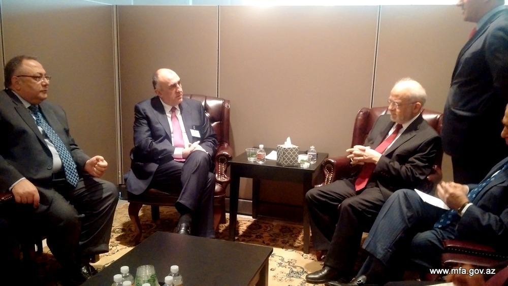 Эльмар Мамедъяров встретился с министром иностранных дел Ирака