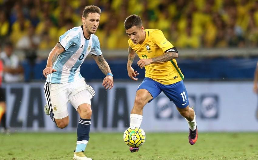 Braziliya və Argentina milliləri 100 minlik stadionda yoldaşlıq görüşü keçirəcəklər