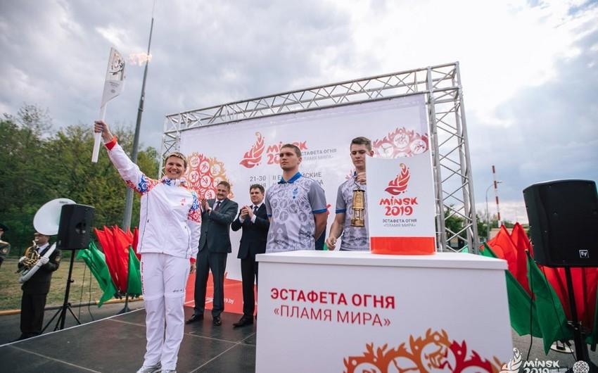 """""""Minsk 2019"""" II Avropa Oyunlarının məşəli Belarusa gətirilib"""