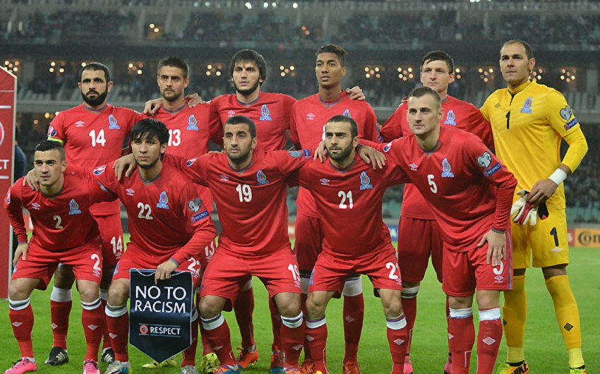 Today Azerbaijani national team plays last match of 2015