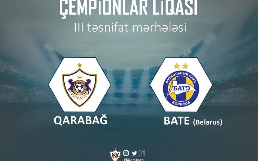 Определилось время матчей Карабах- БАТЭ
