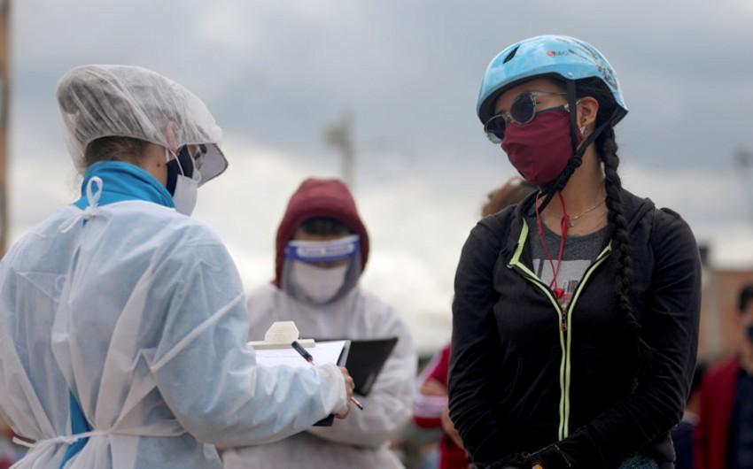 Kolumbiyada bir gündə 4 mindən çox şəxs koronavirusa yoluxdu