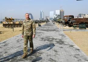 Президент: Парк военных трофеев - это демонстрация Победы и дань уважения погибшим