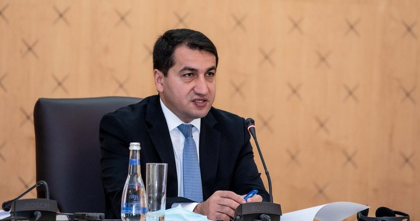 Hikmat Hajiyev: Smerch missile launched by Armenia hit the garden of residential house