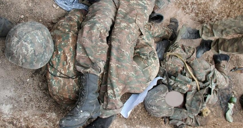 Füzulidə 4 erməni hərbçinin meyiti aşkarlanıb