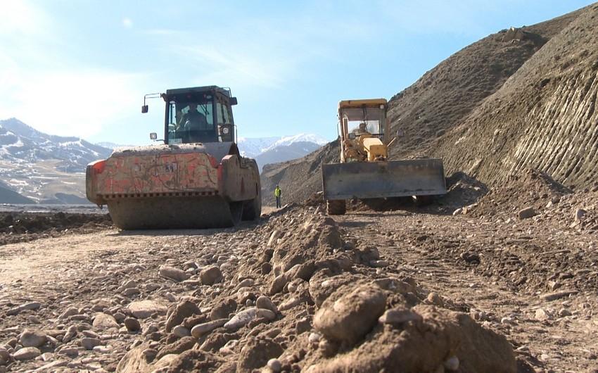 Quba-Qonaqkənd yolu yenidən qurulur - FOTO