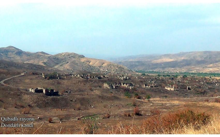Освобожденное от оккупации село Дондарлы Губадлинского района