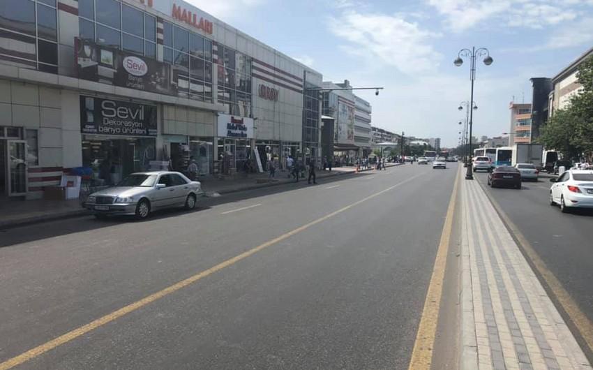 8-ci km bazarının qarşısında dayanma və durma qaydalarının tətbiqinə başlanılıb