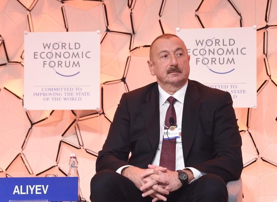 Президент Ильхам Алиев принял участие в панельном заседании на тему Стратегический взгляд: Евразия - ФОТО