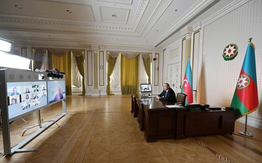 Состоялась видеоконференция между Ильхамом Алиевым и главой ЕБРР - ОБНОВЛЕНО