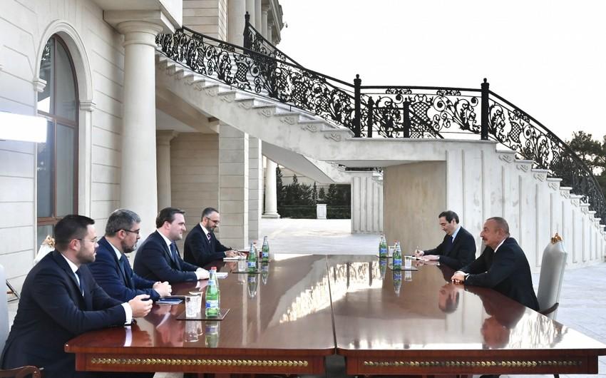 Ильхам Алиев принял делегацию под руководством главы МИД Сербии