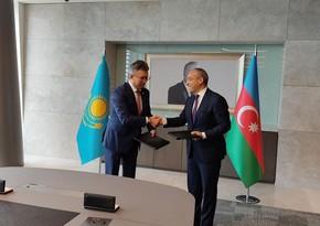 Azerbaijan, Kazakhstan ink memo on trade co-op