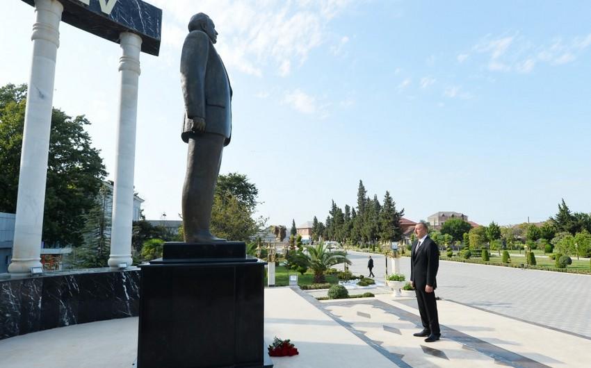 Президент Азербайджана Ильхам Алиев прибыл в Лянкяранский район