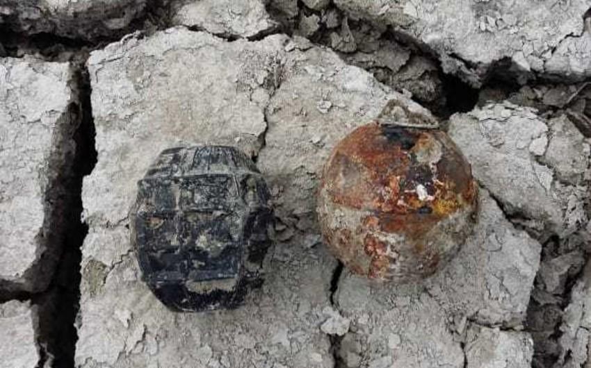 Biləsuvarda ovçuluq təsərrüfatından iki partlamamış hərbi sursat tapılıb