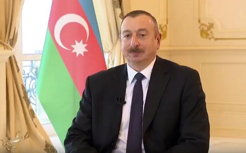 Prezident İlham Əliyev Qazaxıstanın paytaxtı haqqında sənədli filmə çəkilib - VİDEO
