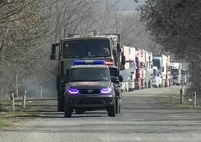 Rusiya sülhməramlıları Şuşaya gedən avtomobil karvanını müşayiət edib