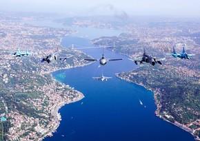 Азербайджанские истребители совершили образцовые полеты в небенад Стамбулом