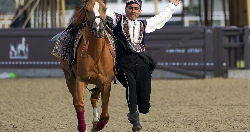 Azerbaijani riders perform at Royal Windsor Horse Show