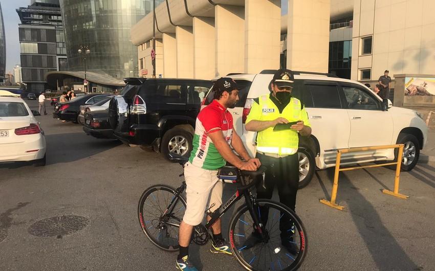 Polis Dənizkənarı Milli Parkda velosipedçilərə qarşı reyd keçirib