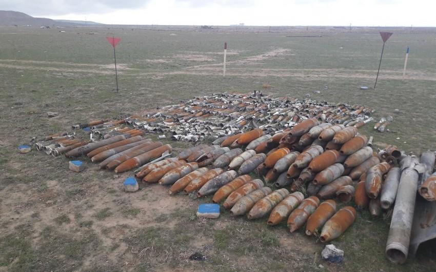Xızıda 126 ədəd partlamamış hərbi sursat aşkar edilib