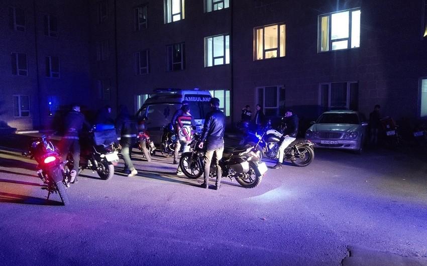 Bakıda piyadanı motosiklet vurdu
