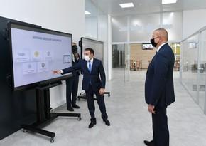 Ильхам Алиев принял участие в открытии центра ASAN xidmət № 6 в Баку