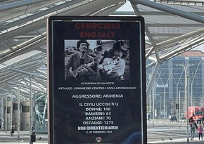 Banners about Khojaly genocide installed in Naples, Florence