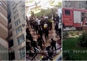 В Баку потушен пожар в 16-этажном жилом доме - ВИДЕО - ОБНОВЛЕНО