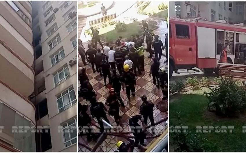 Fire breaks out in 16-storey residential building in Baku