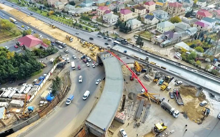 Sulutəpə dairəsində yeni yol qovşağının inşası tamamlanmaq üzrədir