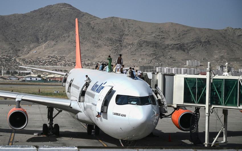 UAE and Qatar planes land at Kabul airport