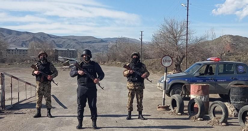 Qubadlı polisi vəzifə başında - VİDEO